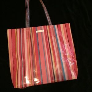 NWOT Colorful Beach Bag Tote - Clinique